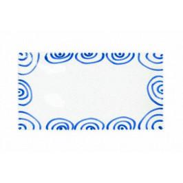 Gmundner Keramik Blaugeflammt Platte rechteckig 36x15x2,8 cm