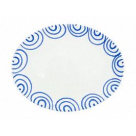 Gmundner Keramik Blaugeflammt Platte oval 33x26x2,5 cm