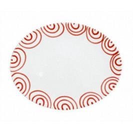 Gmundner Keramik Rotgeflammt Platte oval 33x26x2,5 cm