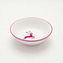 Gmundner Keramik Bordeauxroter Hirsch Müslischale klein d: 14 cm / h: 4,5 cm / 0,27 L