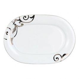 Königlich Tettau Jade Garbo Platin Platte Oval 36 cm