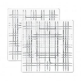 Nachtmann Square Platte quadratisch Glas Set 2-tlg. 21x21x1,8 cm