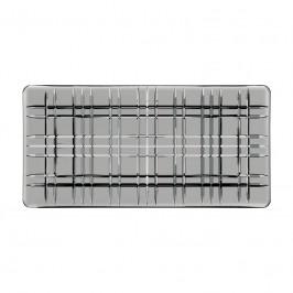 Nachtmann Square Platte rechteckig Smoke Glas 28x14x2,3 cm