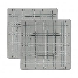 Nachtmann Square Platte quadratisch Smoke Glas Set 2-tlg. 21x21x1,8 cm