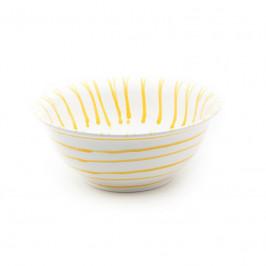Gmundner Keramik Gelbgeflammt Salatschüssel d: 26 cm / 2,0 L