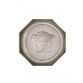 Rosenthal Versace Medusa Lumiere Haze Glasuntersetzer grau d: 10 cm