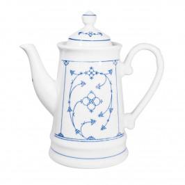 Kahla Blau Saks - Indisch Blau - Strohblumenmuster Kaffeekanne 1,3 L