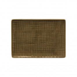 Rosenthal Mesh Walnut Platte flach 18x13 cm