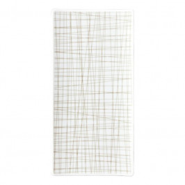 Rosenthal Mesh Line Walnut Platte flach 26x13 cm