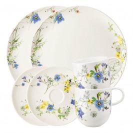Rosenthal Brillance Fleurs des Alpes Frühstück-Set für 2 Personen 6-tlg.