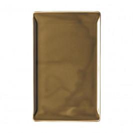 Rosenthal Mesh Walnut Platte flach - ohne Relief 24x15 cm