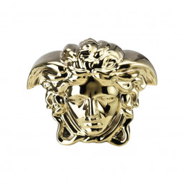 Rosenthal Versace Break the bank Spardose Medusenkopf gold 18x12x14,5 cm