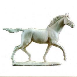 Hutschenreuther Pferd und Reiter Vollblutpferd 'Jazda' 37cm hoch,50cm breit