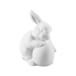 Hutschenreuther Hasenfiguren Hase mit Ei - weiß 10 cm