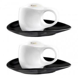 Luigi Colani Porzellan Ab ovo Black & White Espressissimotassen Set 4-tlg. 0,04 L