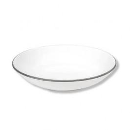 Gmundner Keramik Grauer Rand Suppenteller ohne Fahne Classic 20 cm