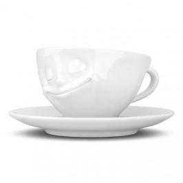 TV Tassen TV KaffeeTasse mit Henkel weiß glücklich 0,20 L