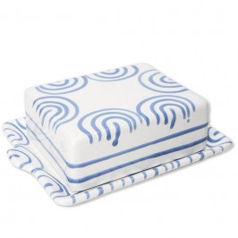 Gmundner Keramik Blaugeflammt Butterdose 250 g