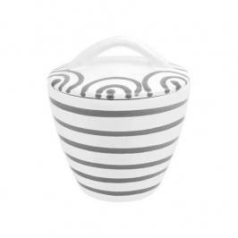 Gmundner Keramik Graugeflammt Zuckerdose Gourmet d: 9 cm / h: 10,5 cm