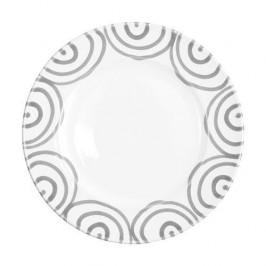 Gmundner Keramik Graugeflammt Dessertteller / Frühstücksteller Gourmet d: 22 cm / h: 2,2 cm