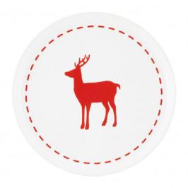 Friesland Happymix Weihnachten Weiß Frühstücksteller Hirsch 19 cm