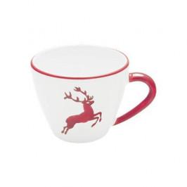 Gmundner Keramik Rubinroter Hirsch Kaffee-Obertasse Gourmet 0,2 L / h: 7,5 cm