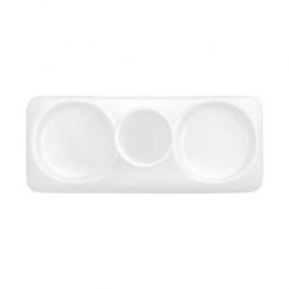 Gmundner Keramik Grüner Rand Untersetzer für Salz/Pfeffer-Garnitur 17 cm