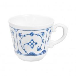 Kahla Blau Saks - Indisch Blau - Stohblumenmuster Kaffee-Obertasse 0,18 L