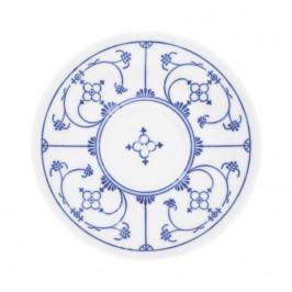 Kahla Blau Saks - Indisch Blau - Stohblumenmuster Kaffee-/Tee-Untertasse 14 cm