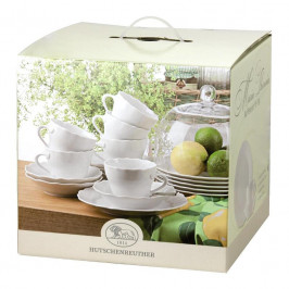 Hutschenreuther Maria Theresia weiss Kaffee-Set 18 tlg.