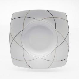 Tettau Jade Silk Teller tief eckig 24,5 cm