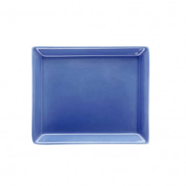 Arzberg Tric blau Servierplatte rechteckig 12x15 cm