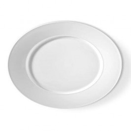 KPM Urania weiß Teller oval 34 x 27 cm