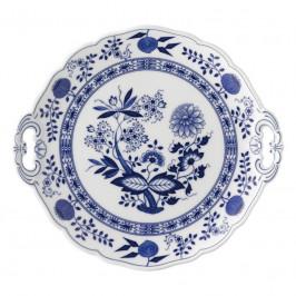 Hutschenreuther Blau Zwiebelmuster Kuchenplatte rund 27 cm
