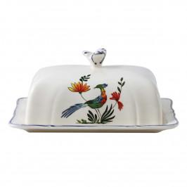 Gien 'Oiseaux Paradis' Butterdose 17,8 x 13,5 cm