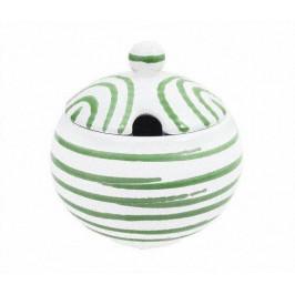 Gmundner Keramik Grüngeflammt Zuckerdose glatt mit Ausschnitt d: 10 cm / h: 11 cm
