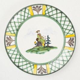 Gmundner Keramik Jagd Frühstücksteller Cup 20 cm