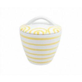 Gmundner Keramik Gelbgeflammt Zuckerdose Gourmet d: 9 cm / h: 10,5 cm