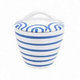 Gmundner Keramik Blaugeflammt Zuckerdose Gourmet d: 9 cm / h: 10,5 cm