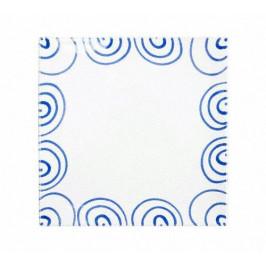 Gmundner Keramik Blaugeflammt Platzteller eckig 31x31x2,8 cm