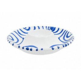 Gmundner Keramik Blaugeflammt Eierbecher glatt d: 12 cm