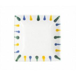 Gmundner Keramik Buntgeflammt Snack Schale 11 x 11 cm