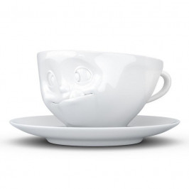 TV Tassen TV KaffeeTasse mit Henkel weiß lecker 0,20 L