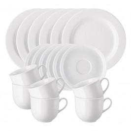 Arzberg Porzellan Form 1382 weiß Kaffee-Set 18-tlg.