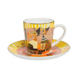Goebel Rosina Wachtmeister - Table Top Espressotasse 2-tlg. Momenti D'oro h: 7 cm / 0,1 L