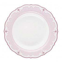 Hutschenreuther Baronesse Estelle Pink - Grid Suppenteller Fahne 24 cm