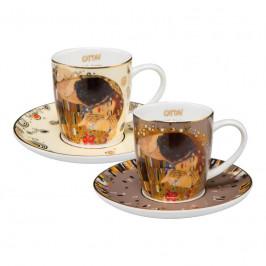 Goebel der Kuss von Gustav Klimt - Limited Edition zum 100. Todestag Espressotassen 0,10 L - Limited Edition 4.999 Stück mit Zertifikat Set 4-tlg.