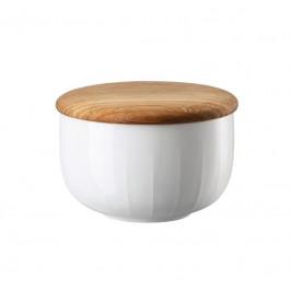 Arzberg Joyn Weiß / Eiche Zuckerdose mit Holzdeckel aus Eiche 0,28 L