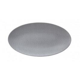 Seltmann Weiden Life Fashion - Elegant Grey Servierplatte oval 33x18 cm