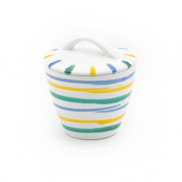 Gmundner Keramik Buntgeflammt Zuckerdose Gourmet d: 9 cm / h: 10,5 cm